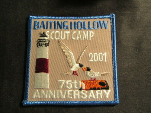 Baiting Hollow Scout Camp 2001 75th Anniversary Patch     c87