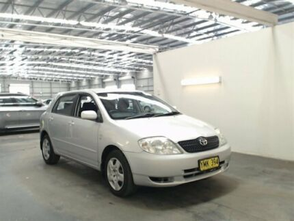 2002 Toyota Corolla ZZE122R Conquest Seca Silver 4 Speed Automatic Hatchback