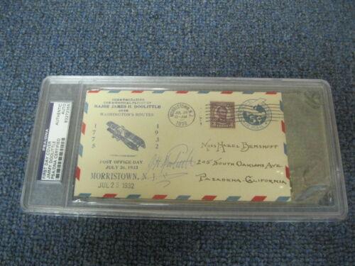Lt. General Jimmy Doolittle (d.1993) First Day Cover PSA Cert 1932 Flown Mail