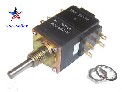 1x 50K Audio Potentiometer Pot Panel PCB Dual Step A-50K 6mm Shaft Mount Hole