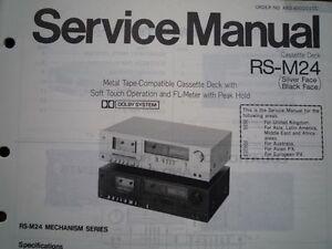 TECHNICS-RS-M24-Cassette-Tape-Deck-Service-manual-wiring-parts-diagram