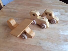 Wood Toys - Hand Made wood Plane, Train, Car and truck