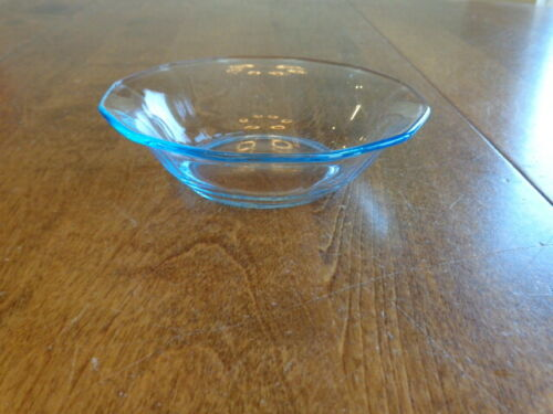 FOSTORIA GLASS FAIRFAX BLUE SMALL FRUIT BOWL