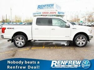 2018 Ford F-150 Lariat SuperCrew 4x4, Power Stroke, Pano Sunroof
