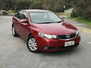 2009 Kia Cerato TD MY09 S Red 4 Speed Sports Automatic Sedan Mile End South West Torrens Area Preview
