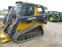 2010 John Deere 329D Compact Track Loader with Cab