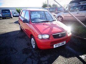 2005 05 (55reg) suzuki alto 1l petrol MOT'd May 17 70,000 miles £595