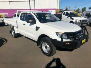 2015 Ford Ranger PX XL 3.2 (4x4) White 6 Speed Manual Super Cab Chassis Dubbo Dubbo Area Preview