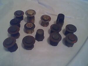 14 Antique Brass Oil / Kerosene Flame Spreaders B & H & Rayo