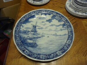 Delft blue  plate by BOCH