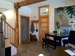 1 bdrm in 2 Story Loft in Trendy North End (summer, furnished)