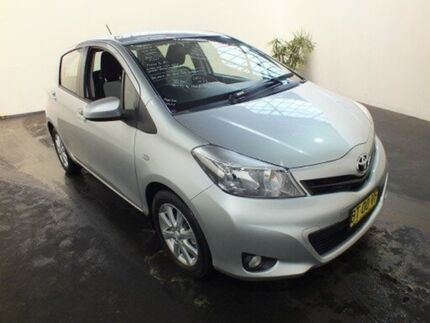 2012 Toyota Yaris NCP131R YRX Silver Pearl 4 Speed Automatic Hatchback Clemton Park Canterbury Area Preview