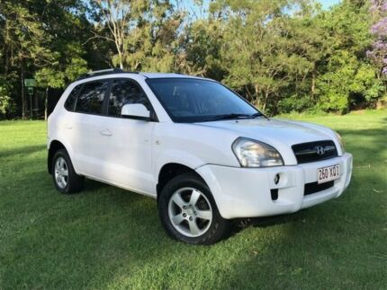2008 Hyundai Tucson JM MY09 City SX White 4 Speed Sports Automatic Wagon Herston Brisbane North East Preview