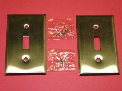 COMBO TOGGLE SWITCH /& 2-GANG DUPLEX #58-2-SS BELL ELECTRIC STAINLESS STEEL NOS