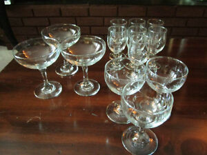 Glasses with beautiful etching