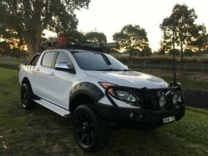 2013 Mazda BT-50 MY13 XTR Hi-Rider (4x2) White 6 Speed Automatic Dual Cab Utility Mayfield East Newcastle Area Preview