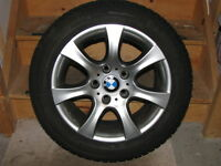 "Alloy Wheels and 16"" Michelin X-Ice Winter Tires for BMW E90"