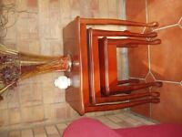 Mahogany Nest of 3 Tables for Sale