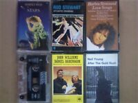 A-Z POP SIMPLY RED ROD STEWART STREISAND TEXAS JOHN WILLIAMS NEIL YOUNG PRERECORDED CASSETTE TAPES