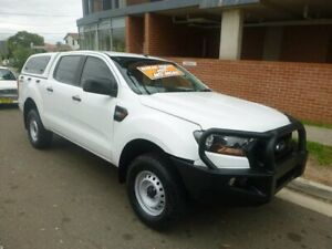 2015 Ford Ranger PX MkII XL Double Cab 4x2 Hi-Rider White 6 Speed Sports Automatic Cab Chassis Merrylands Parramatta Area Preview