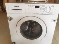 Siemens fully integrated washer drier WDI1640 1600 spin speed, washing machine