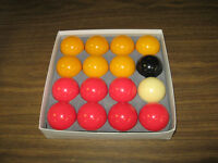 RED & YELLOW POOL BALL SET - USED