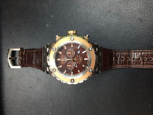 Invicta reserve Model 10083 montre watch leather cuire bracelet