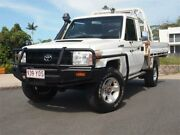 2010 Toyota Landcruiser VDJ79R MY10 GX White 5 Speed Manual Cab Chassis Chevallum Maroochydore Area Preview