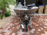 Tracker 2013 Pro170 w/50 Mercury ELPT Fourstroke and Trailer