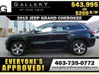 2015 Grand Cherokee LIMITED $269 bi-weekly APPLY NOW DRIVE NOW