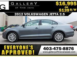 2012 Volkswagen Jetta 2.5L $139 bi-weekly APPLY NOW DRIVE NOW