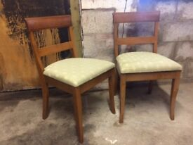 Pair of Solid Oak Chairs