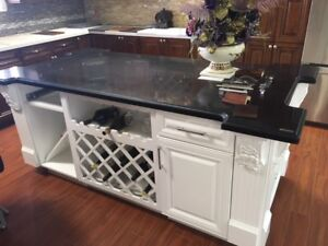 get a free design on the kitchen island!