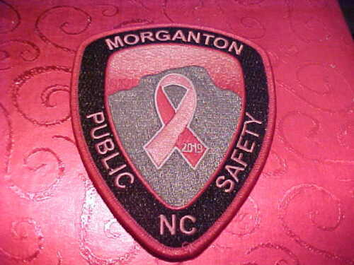 MORGANTON NORTH CAROLINA PINK CANCER POLICE PATCH SHOULDER SIZE UNUSED