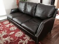 Top-Grain Leather Couch