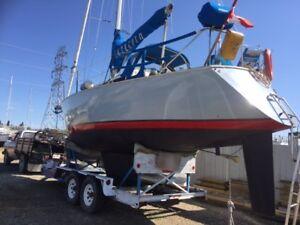 30 ft Sailboat 23500 plus trailer way below market value