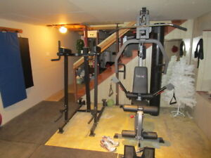 Total Gym and dip and lift rack