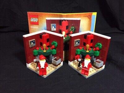 LOt of 2 LEGO 2011 Santa CHRISTMAS House LIMITED EDITION instruction manual inc,