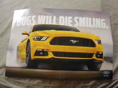 NEW Ford Dealer Poster Mustang S550 - 2015, 2016, 2017