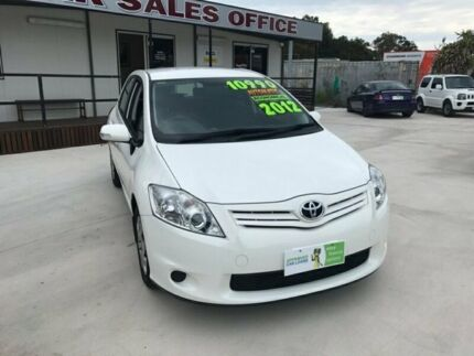 2012 Toyota Corolla ZRE152R Ascent Hatchback 5dr Auto 4sp 1.8i White Automatic Hatchback