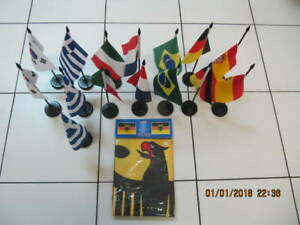 """Classic 16 pc LotOf 7 different International Flags 12"""" to 3'x5'"""