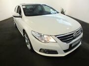 2011 Volkswagen Passat CC 3C MY11 125 TDI White 6 Speed Direct Shift Coupe Clemton Park Canterbury Area Preview
