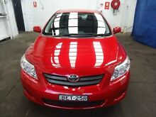 2007 Toyota Corolla ZRE152R Ascent Red 6 Speed Manual Sedan Cardiff Lake Macquarie Area Preview