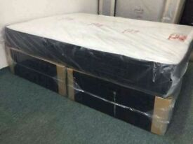Order == now Supreme double memory foam divan bed brand new same day express delivery