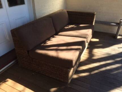 Large cane sofa bed Armidale City Preview