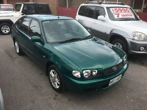 2001 Toyota Corolla AE112R Ascent Green 4 Speed Automatic Liftback Christies Beach Morphett Vale Area Preview