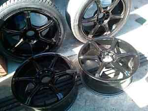 4 x 17 inch wheels by 8 inch wide Multi Fit mags South Melbourne Port Phillip Preview