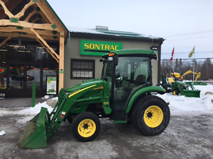 2010 JOHN DEERE 3320 -COMPACT TRACTOR -CAB AND LOADER -LOW HOURS