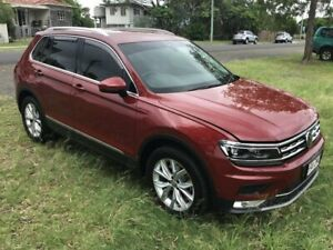 2017 Volkswagen Tiguan 5N MY17 140TDI DSG 4MOTION Highline Red 7 Speed Sports Automatic Dual Clutch