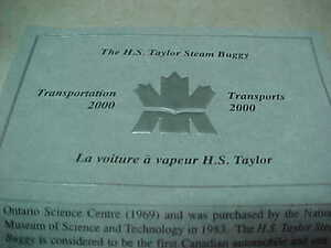 Canada 2000 $20 Transportaion H.S. Taylor Steam Buggy Hologram!! London Ontario image 7